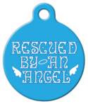 image: Rescued by an Angel Pet ID Tag