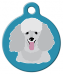 image: Poodle Face Pet ID Tag