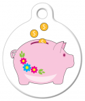 image: Piggy Bank Pet ID Tag