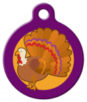 image: Purple Turkey Cute ID Tag