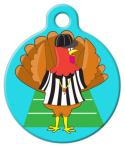 image: Football Turkey Referee Pet ID Tag