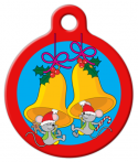 image: Christmas Mice Pet ID Tag