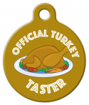 image: Official Turkey Taster Pet ID Tag