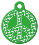 image: Shamrock Peace Sign ID Tag for Dogs