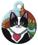 image: Tuxedo Cat ID Tag