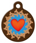 image: Cookie Hearts Dog Identity Tag