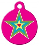 image: Star and Heart Pet ID Tag