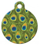 image: Peacock Feathers Pet ID Tag
