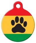 Rasta Paw Pet ID Tag
