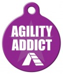 image: Agility Addict ID Tag for Pets