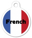 image: French Flag Color ID Tag