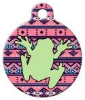 image: Boho Tribal Frog Custom ID Tag