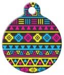 image: CMYK Aztec Pattern Pet ID Tag