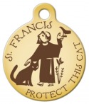 Saint Francis Protect This Cat ID Tag