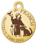 image: St. Francis Protect This Dog ID Tag