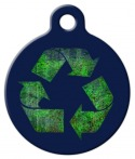 image: Recycle Symbol Custom Dog Tag