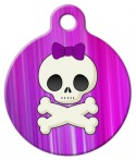 image: Girlie Skull Custom Dog Tag
