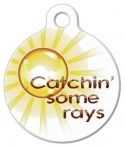 image: Catch Some Rays Dog ID Tag