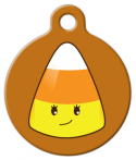 image: Sweet Candy Corn Pet ID Tag
