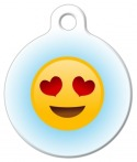 image: Heart Eyes Emoji Pet Tag