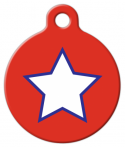 image: Patriotic Simple Star Custom Dog Tag