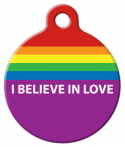 image: Believe in Love Dog Tag for Dogs