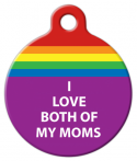 image: I Love Both of My Moms Pet Collar Tag