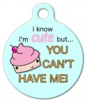 image: Cute as a Cupcake Pet ID Tag