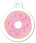 image: Strawberry Frosted Donut Pet ID Tag