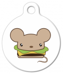 image: Kawaii Cheeseburger Mouse Pet ID Tag