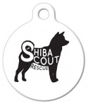 image: Shiba Scout Rescue Pet ID Tag