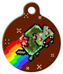 image: Zombie Nyan Cat Pet ID Tag
