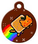 image: Pumpkin Nyan Cat ID Name Tag