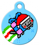 image: Merry Nyanmas Holiday Pet ID Tag