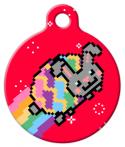 image: Easter Nyan Bunny Pet Name Tag