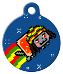 image: Rasta Nyan Cat Custom Name Tag