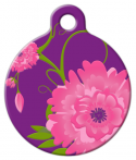 image: Rose Garden Lupine Pattern Pet Tag