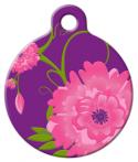 image: Rose Garden Lupine Pattern Pet Tag