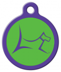 image: Club by Lupine - Augusta Green Pet Name Tag