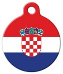 image: Croatian National Flag Dog or Cat ID Tag