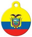 image: Flag of Ecuador Pet ID Tag