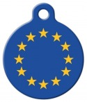 image: Flag of Europe Dog or Cat ID Tag