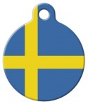 image: Flag of Sweden Custom Pet ID Tag