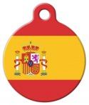 image: Spanish National Flag Custom Pet Tag