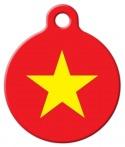 image: Vietnamese National Flag Custom Pet ID Tag