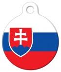 image: Slovakia Official Flag Pet ID Tag
