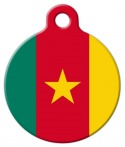 image: National Flag of Cameroon Pet ID Tag