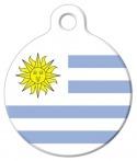 image: National Flag of Uruguay Pet ID Tag