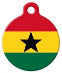 image: Official Flag of Ghana Pet Name Tag