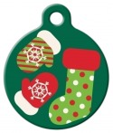 image: Stocking Stuffer Lupine Pattern Pet ID Tag